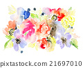 Flowers watercolor illustration 21697010