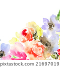 Greeting card with flowers 21697019