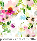 Seamless pattern with flowers watercolor 21697062