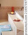 Slippers On Towel In Home Bathroom 21697397