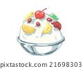 刨冰 冰 甜食 21698303