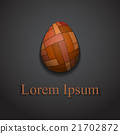 Stylish creative patchwork egg logo sample text 21702872