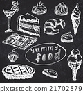 Food deserts set sketch handdrawn on blackboard 21702879