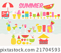 summer food and drink vector illustration 21704593
