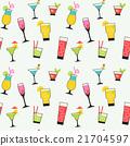 cocktail illustration set seamless pattern 21704597