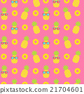 cute pineapple seamless pattern background 21704601