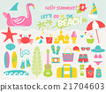 summer beach illustration set,vector illustration 21704603