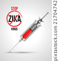 Syringe with stop ZIKA virus. 21704742