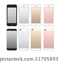Realistic smartphone front and back set iphone 21705693