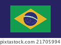 brazil flag over green background 21705994