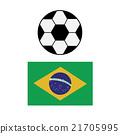 Brazil national flag background texture 21705995