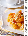 Pumpkin gnocchi with cheese and butter. Vertical 21706240