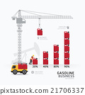 Infographic business gasoline graph template  21706337