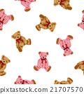 귀여운 곰 무늬 21707570