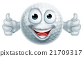 Cartoon Golf Ball Thumbs Up  Man Character 21709317