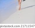 beautiful gril on beach have fun 21711547