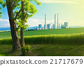 landscape with a tree and power station 21717679
