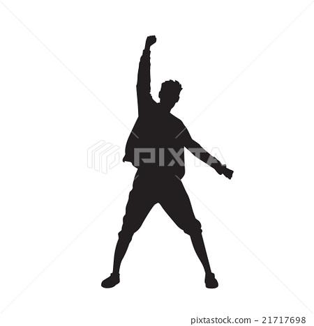 Traveler Icon Posing Hand Up Logo Hiker Trekker 21717698