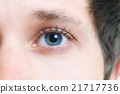 Close-up picture of blue eyes from a young man 21717736