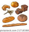 麵包 糕點 向量 21718388