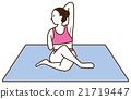 瑜伽妇女构成 21719447