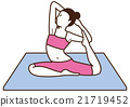 Yoga Women pose 21719452