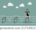 Business woman jumping over hurdle 21719922