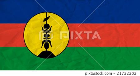 New Caledonia paper flag 21722202