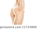 Rear view of beautiful caucasian woman 21724866