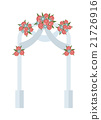 Wedding arch with pink roses vector illustration 21726916