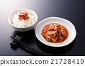 朝鲜泡菜 韩国菜 米饭 21728419