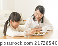 父母和小孩 親子 餅乾 21728540