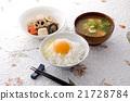 加入生鸡蛋的米饭 开水焯过的食物 炖 21728784