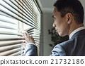警察 觀看 百葉窗 21732186