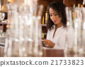 Bar owner with tablet 21733823