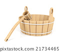 Wooden bucket and dipper 21734465