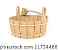 Wooden bucket and dipper 21734466