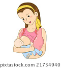 Mother feeding her baby with breast 21734940