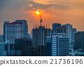 Sunset Cityscape 21736196