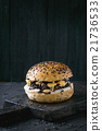 Black rice veggie  burger 21736533