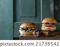 Homemade veggie burgers 21736542