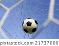 Socce in the goal net 21737000