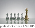 Golden King and  Silver Pawn - Leadership Concept 21743105