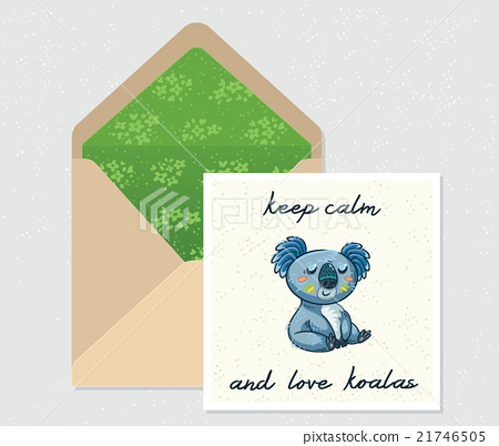 Vector set for design. Envelope and card with cute 21746505