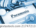 Pneumonia Diagnosis. Medical Concept. 3D Render. 21747213