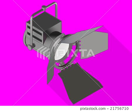 Studio light isometric flat vector  21756710