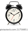 Alarm clock on white background 21758851
