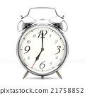 Alarm clock on white background 21758852