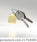 Keys with a house pendant.  21758985