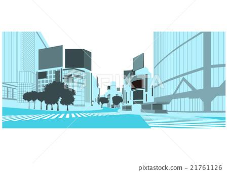 "Illustration material ""Shopping streets of Shibuya"" 21761126"